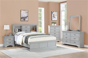 Carla Grey Bedroom Collection,f9423 poundex, f9423q poundex, f9423 bed