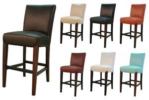 Gervin Recycled Leather Counter Stool