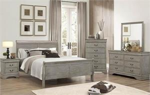 Louis Philippe Antique Gray Bedroom Collection