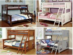 Spring Creek Twin/Queen Bunk Bed,cm-bk604 furniture of america,cm-bk604 bunk bed