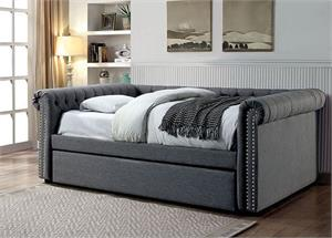 Leanna Grey Day Bed CM1027,CM1027 furniture of america