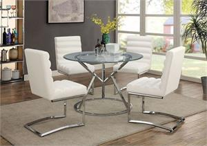 Livada White Dining Set,cm3170 furniture of america