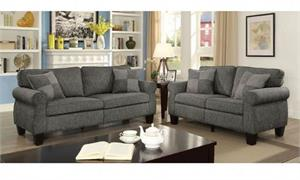 Rhian Dark Grey Sofa Set Collection,cm6328gy furniture of america,cm6328gy sofa