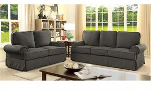 Badalona Gray Sofa Set Collection CM6376,cm6376gy furniture of america