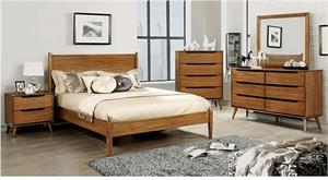 Lennart Oak Bedroom Collection Wooden Headboard,cm7386a furniture of america