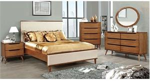 Lennart Oak Bedroom Collection Fabric Headboard,cm7387A furniture of america