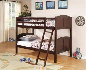 Chapman Twin Twin Bunk Bed With 2 Twin Mattress