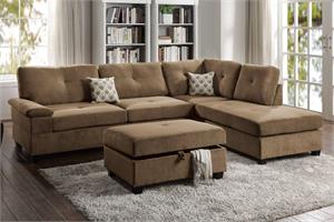 Truffle Sectional Sofa Poundex F6426,f6426 poundex,f6426 sectional