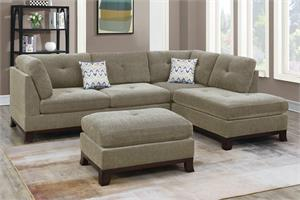 Reversible Sectional with Ottoman F6478, f6478 poundex