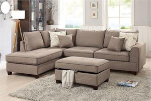 Reversible Sectional Sofa Poundex F6544,f6544 poundex
