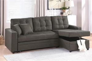 Reversible Sectional with Pull-Out Bed F6591, f6591 poundex