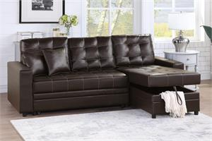 Reversible Sectional with Pull-Out Bed F6592, f6592 poundex