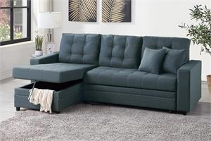 Reversible Sectional with Pull-Out Bed F6593, f6593 poundex