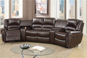 Home Theater Reclining Sectional Poundex F6748,f6748 poundex