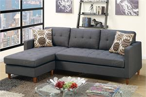 Reversible Sectional Sofa F7094 Poundex,f7094 poundex