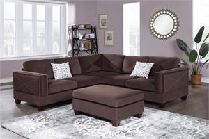 Porto Reversible 3 Piece Sectional Sofa F8843, f8843 poundex, f8843 sectional