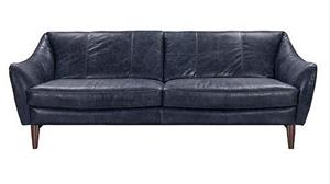 Luna II Blue Top Grain leather Sofa Collection,54230 acme,54231 acme,54232 acme