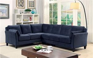 Peever II Navy Sectional CM6368NV,cm6368 furniture of america