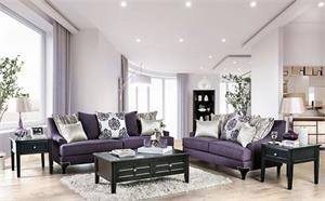 Sisseton Purple Sofa Collection,SM2208 SOFA,SM2208 FURNITURE OF AMERICA